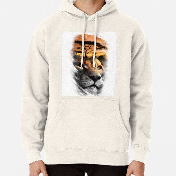 LM Lion Sunset Pullover Hoodie