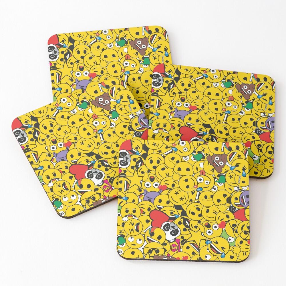 emoji overload Coasters (Set of 4)