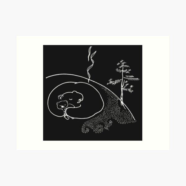 Sweet dreams (white on a dark background) Art Print