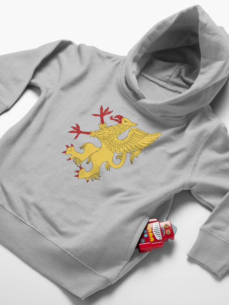 Alternate view of Yellow Griffin Toddler Pullover Hoodie