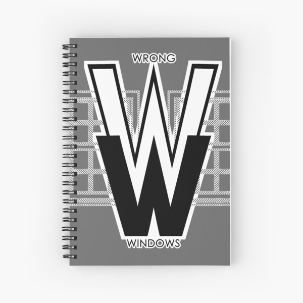 Wrong Windows Double-W Logo Variant #2.5 (2 Double-Hung Sashes) Spiral Notebook