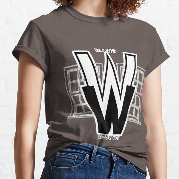 Wrong Windows Double-W Logo Variant #2.5 (2 Double-Hung Sashes) Classic T-Shirt