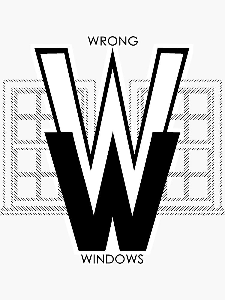 Wrong Windows Double-W Logo Variant #2.5 (2 Double-Hung Sashes) by billyzduke
