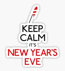 Keep calm it's new year's eve Sticker