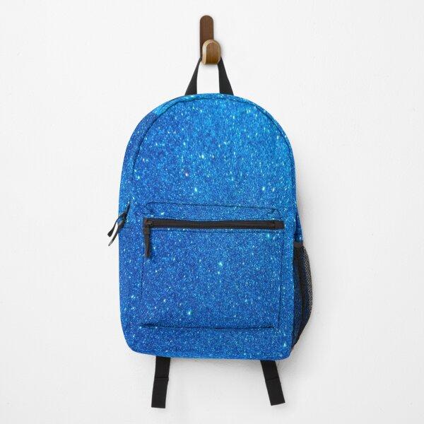 blue glitter pattern Backpack