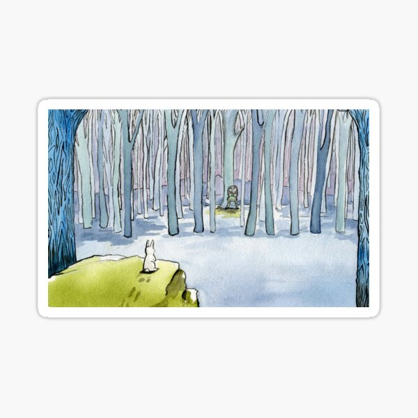 Empty Chair in the Forest with Curious Rabbit -  by Amy Preveza Sticker