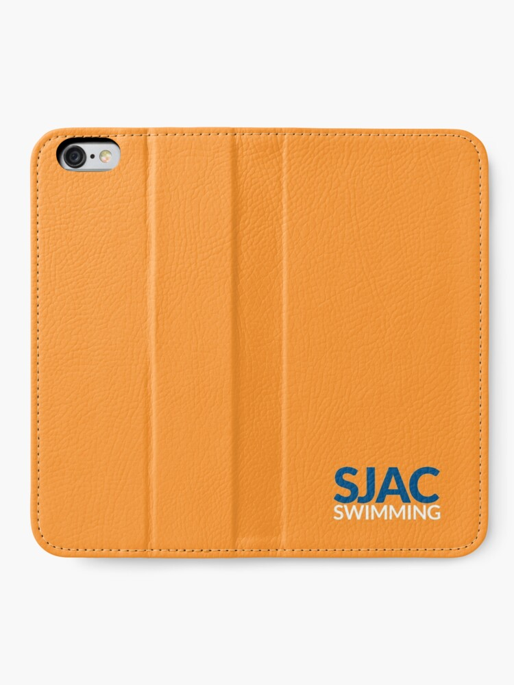 Alternate view of SJAC Orange iPhone Wallet