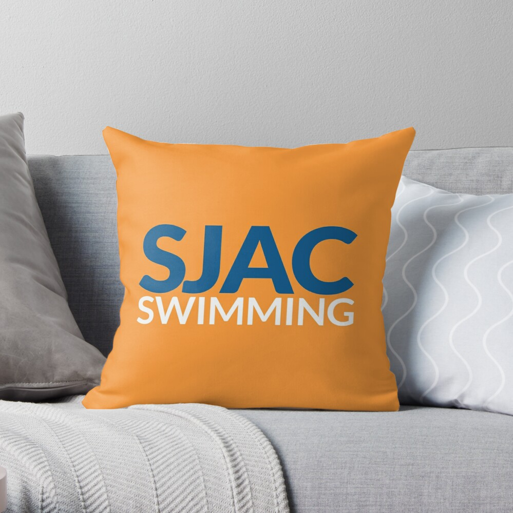 SJAC Orange Throw Pillow