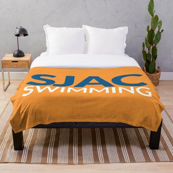 SJAC Orange Throw Blanket