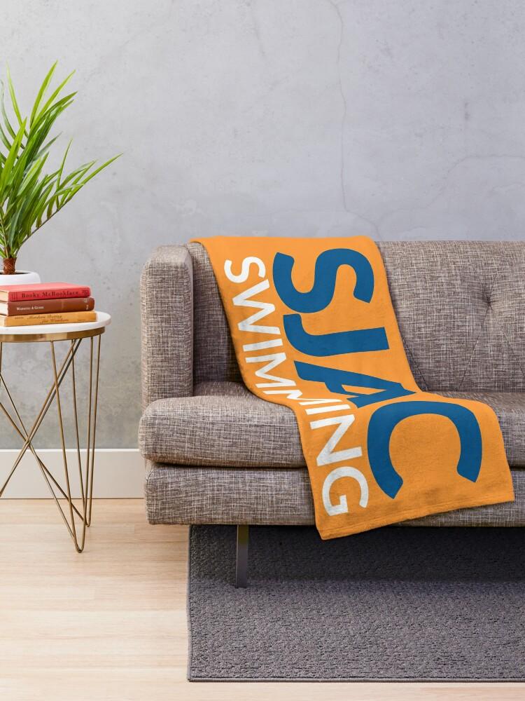 Alternate view of SJAC Orange Throw Blanket
