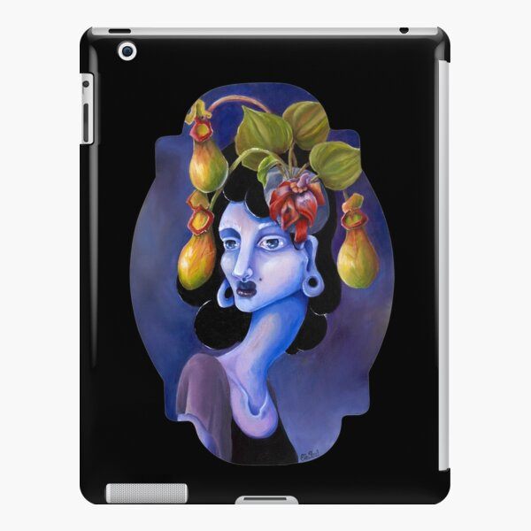Pitcher Plant  by Ela Steel - Surreal Weird Art by Ela Steel iPad Snap Case