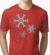 Blue Snowflakes Tri-blend T-Shirt