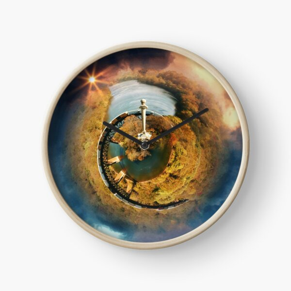 James Rumsey Monument and Train Swirl World Clock