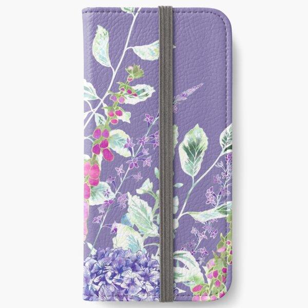 Pink Foxgloves & Hydrangeas iPhone Wallet
