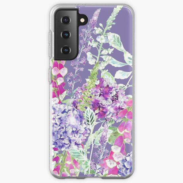 Pink Foxgloves & Hydrangeas Samsung Galaxy Soft Case