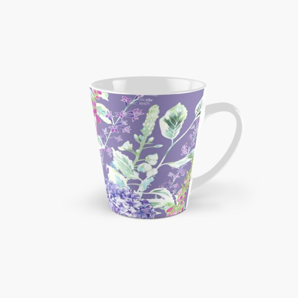 Pink Foxgloves & Hydrangeas Tall Mug