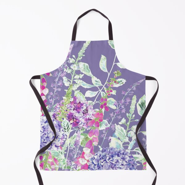 Pink Foxgloves & Hydrangeas Apron