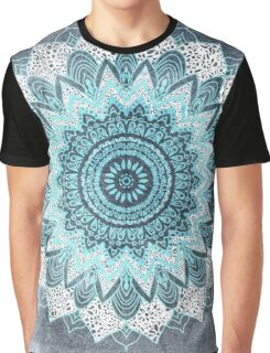 BOHOCHIC MANDALA IN BLUE Graphic T-Shirt