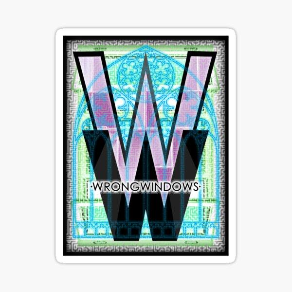 Wrong Windows Double-W Logo Variant #5 (Triple-Window Maze) Sticker