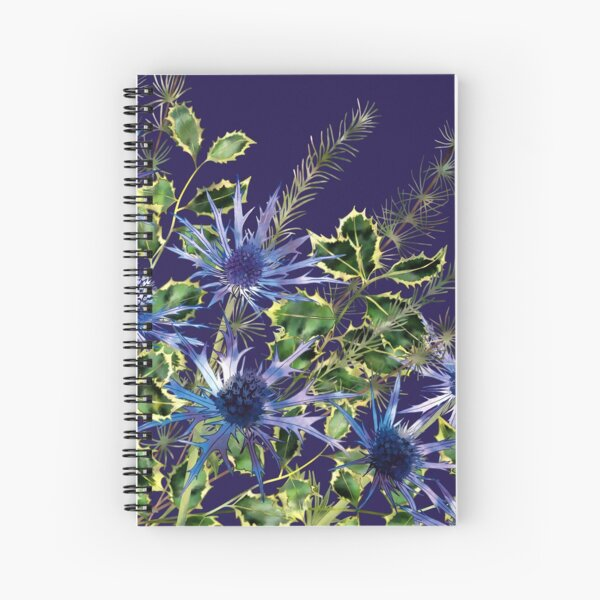 Sea Holly, Holly & Pine Needles Spiral Notebook