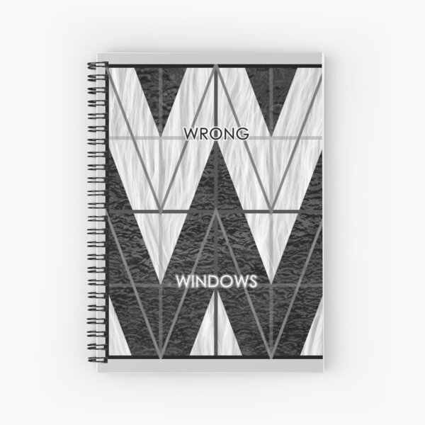Wrong Windows Double-W Logo Variant #6 (3x4 B/W Grid) Spiral Notebook