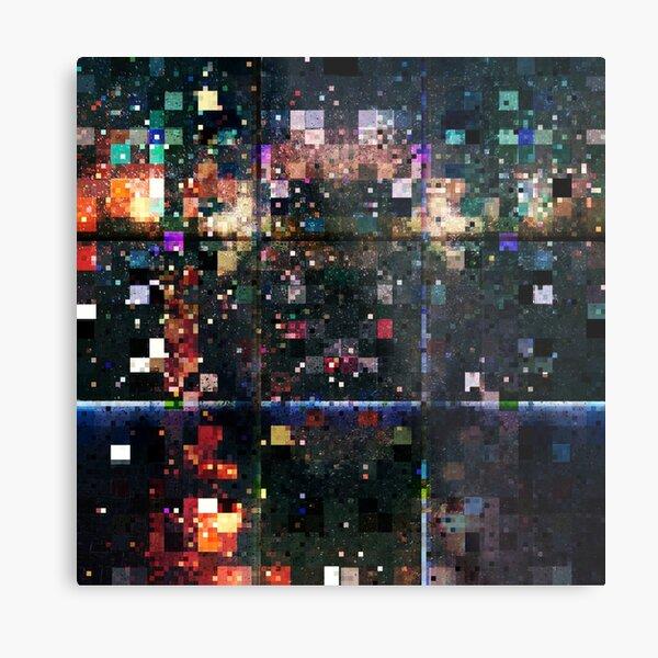 Colorful Pixels Pattern Metal Print