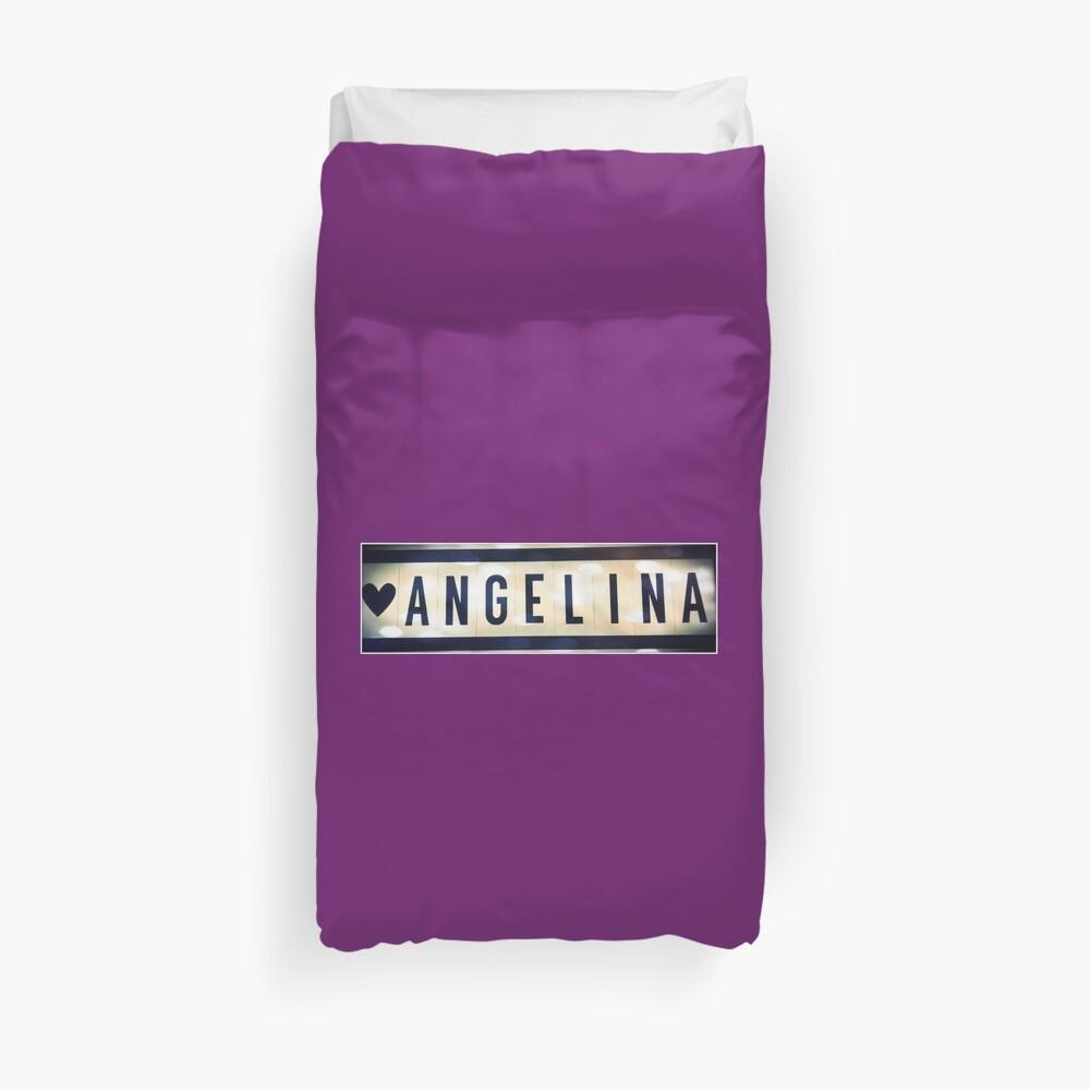 Angelina, Angelina socks, Angelina mug, Angelina sticker, Angelina magnet Duvet Cover