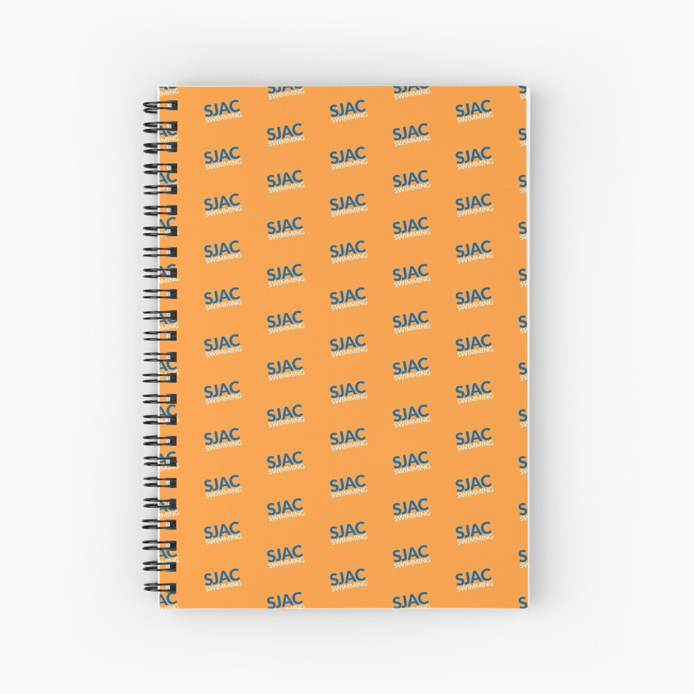 SJAC Pattern Orange Spiral Notebook