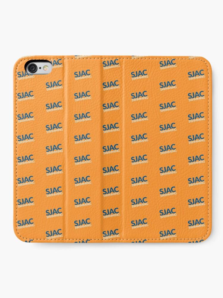 Alternate view of SJAC Pattern Orange iPhone Wallet