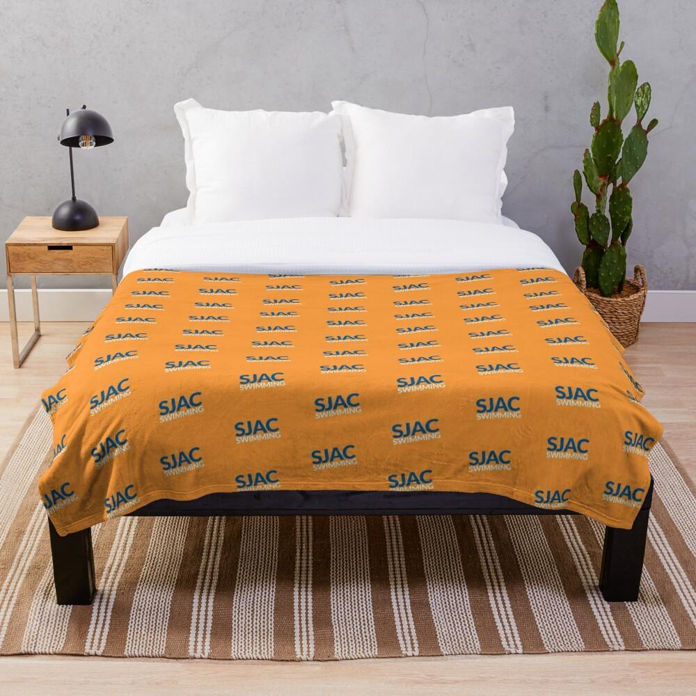 SJAC Pattern Orange Throw Blanket