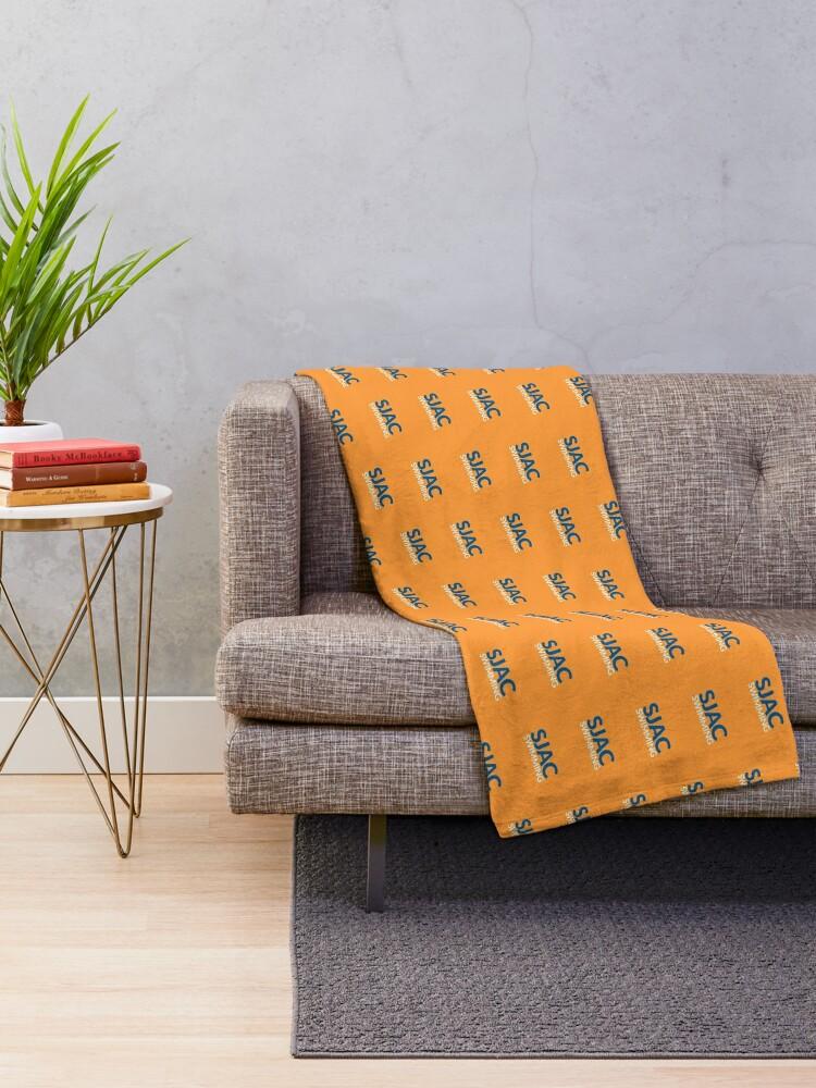 Alternate view of SJAC Pattern Orange Throw Blanket
