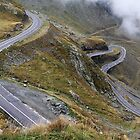 Transfagarasan Road in Romania by badgerbrain