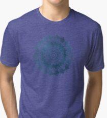 BOHOCHIC MANDALA IN BLUE Tri-blend T-Shirt