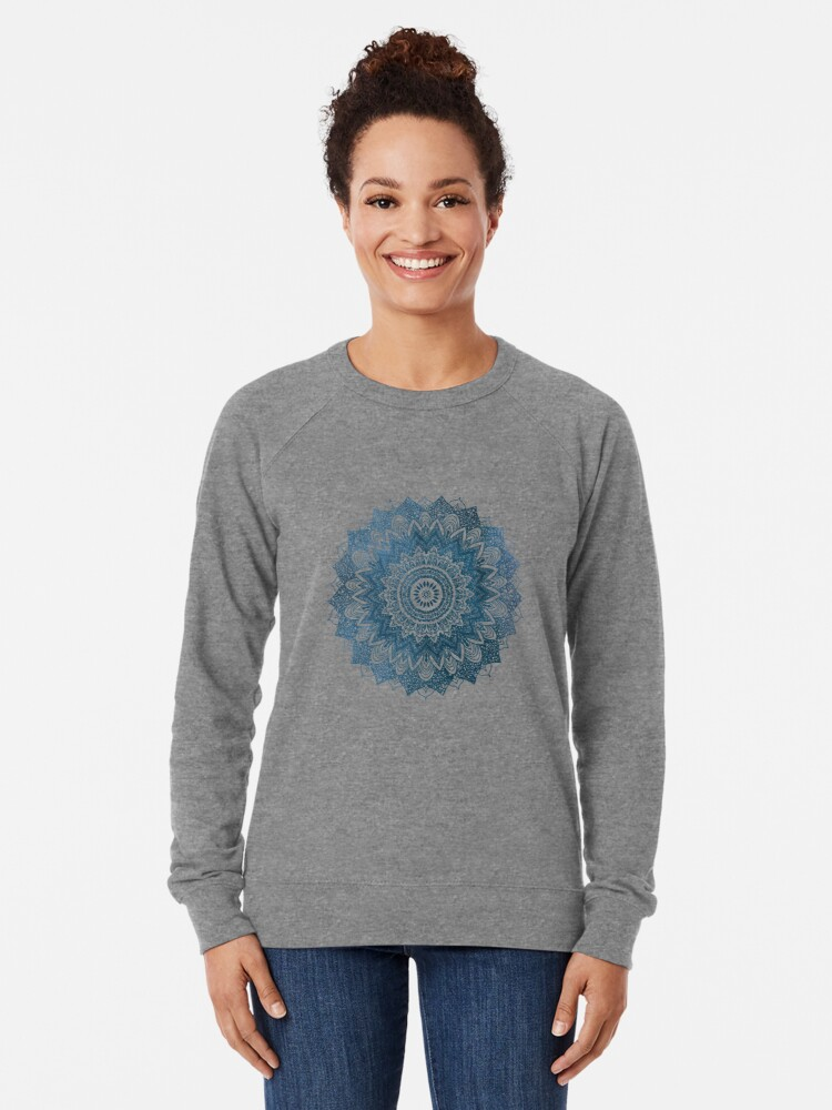 Alternate view of BOHOCHIC MANDALA IN BLUE Lightweight Sweatshirt