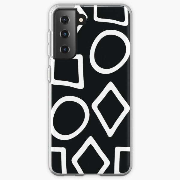 Shapes Black and White Samsung Galaxy Soft Case