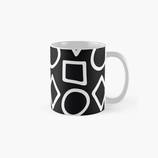 Shapes Black and White Classic Mug