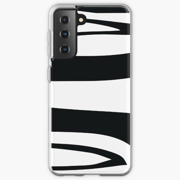 Black and White Stripes Samsung Galaxy Soft Case