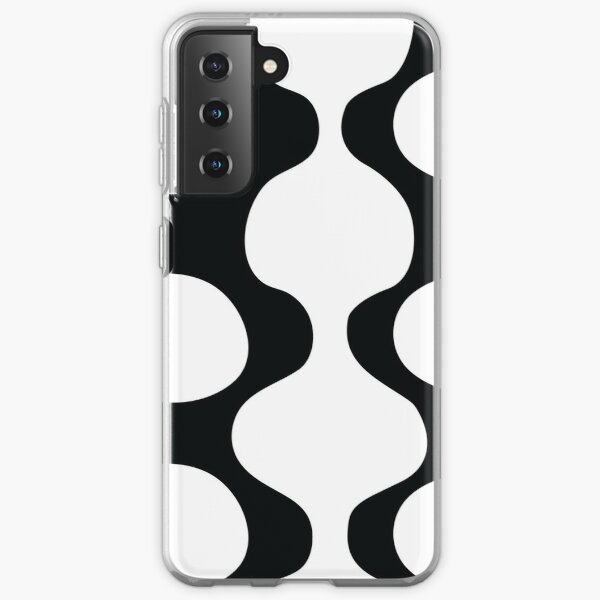 Curves and Circles Black and White Samsung Galaxy Soft Case