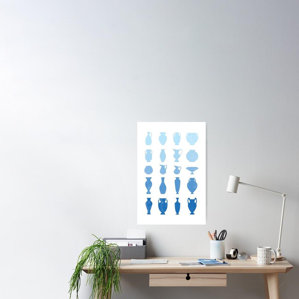 Blue Aegean Greek Vases  Poster