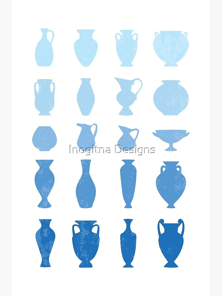 Blue Aegean Greek Vases  by inogitna