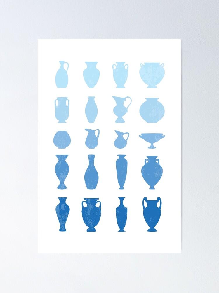 Alternate view of Blue Aegean Greek Vases  Poster