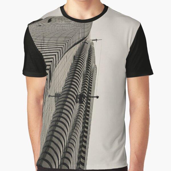Architecture - skyscraper - tower optical illusion Graphic T-Shirt