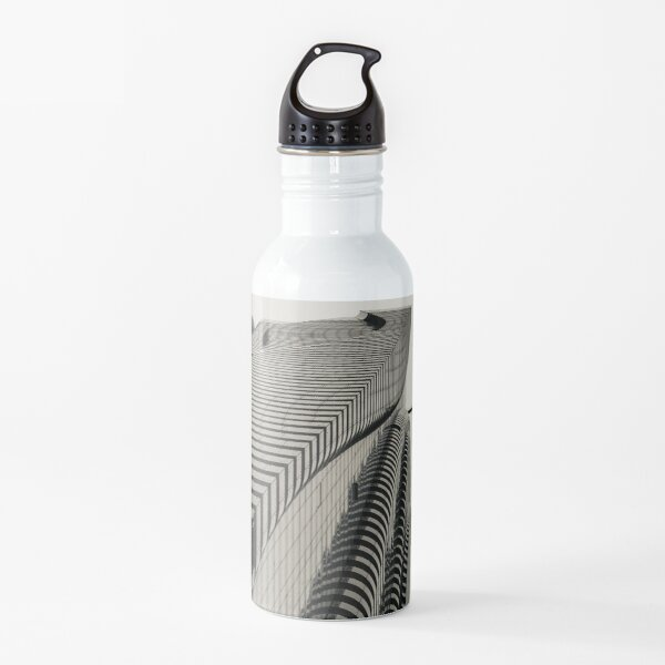 Architecture - skyscraper - tower optical illusion Water Bottle