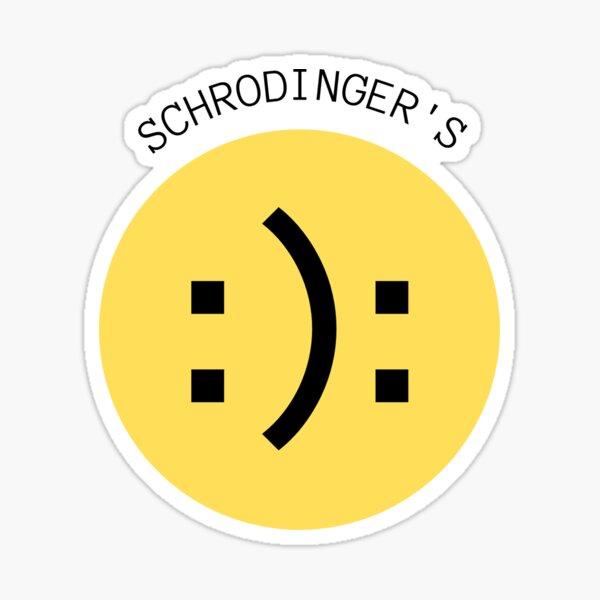 Schrodinger's Smiley - Schrödingers Smiley Sticker