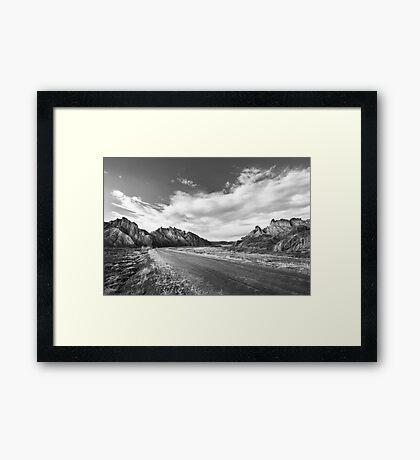 The Deserted Road of the Desert Framed Print