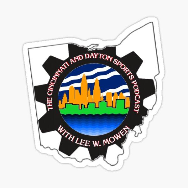 The #LocalCinDaySports Podcast logo in Ohio Sticker
