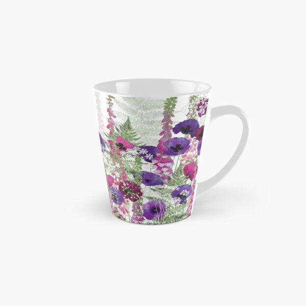 Purple Poppies, Pink Foxgloves & Ferns Tall Mug