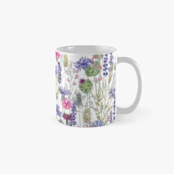 Flower Meadow - Cornflowers, Thistles & Lavender Classic Mug