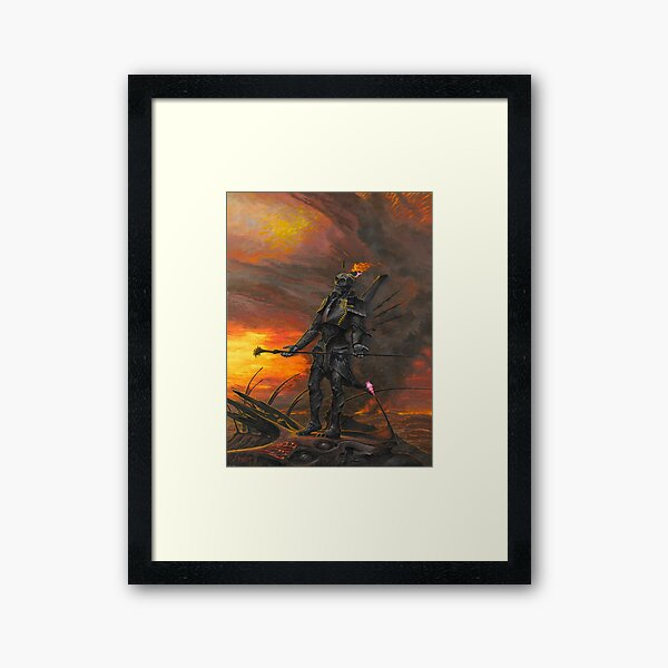 Faraii Acquires His Sword_by Wayne Barlowe Framed Art Print