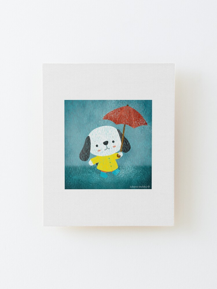 Alternate view of Dog in a Raincoat Mounted Print